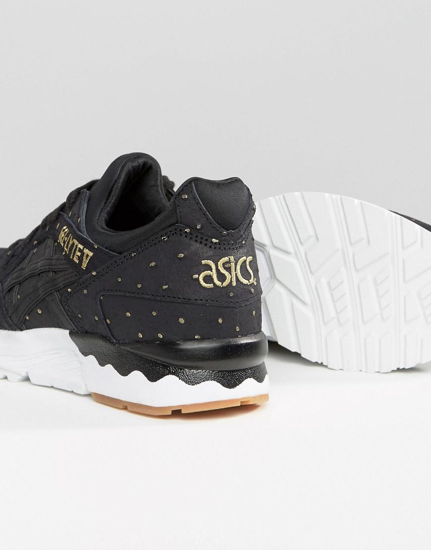 asics suede gel-lyte iii trainers with metallic dots in off white