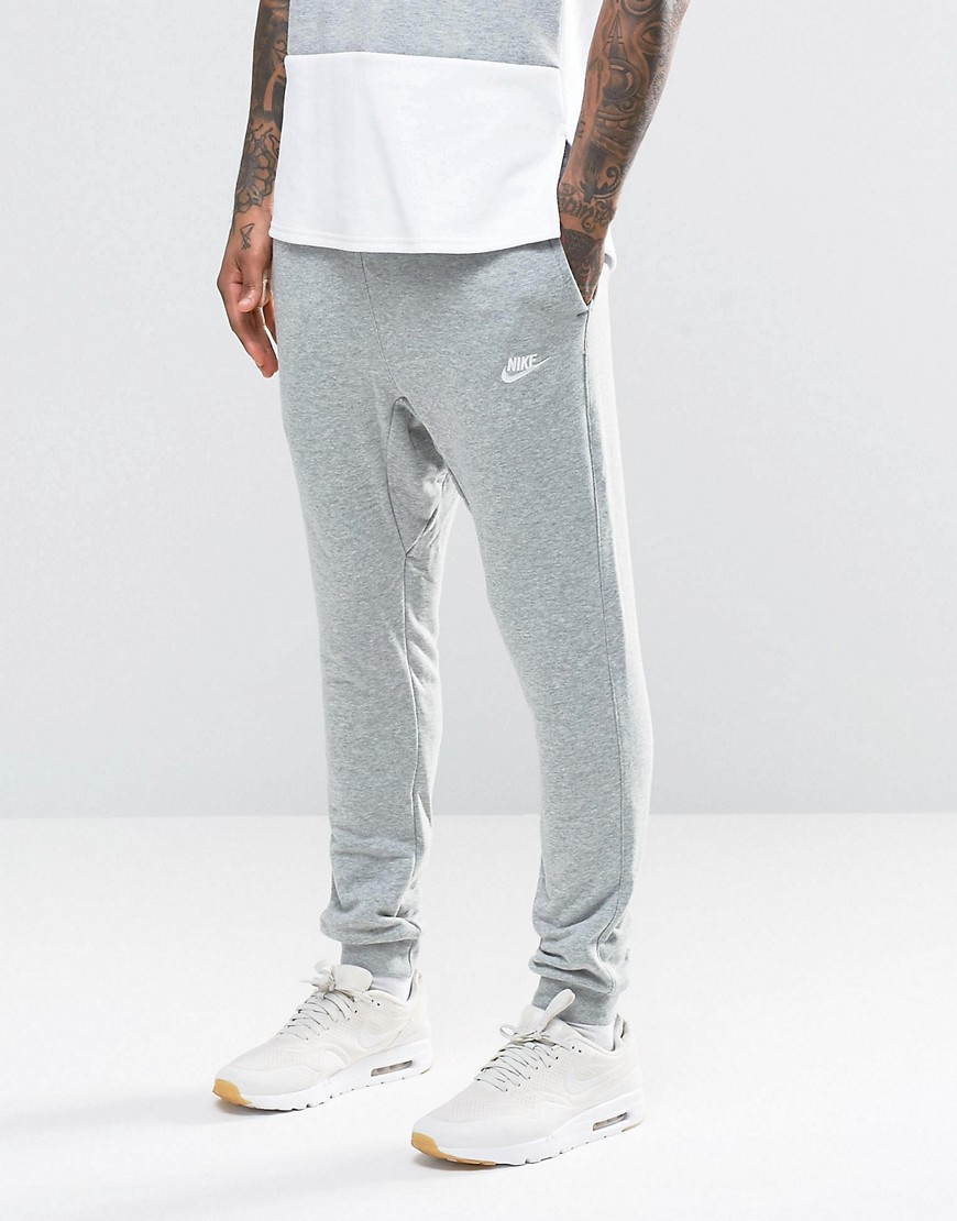 nike skinny joggers in grey 804465 063 in grey for men lyst. Black Bedroom Furniture Sets. Home Design Ideas