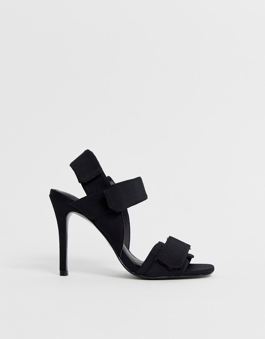 99fc5a3f59b Lyst - ASOS Hazelnut Sporty Heeled Sandals in Black