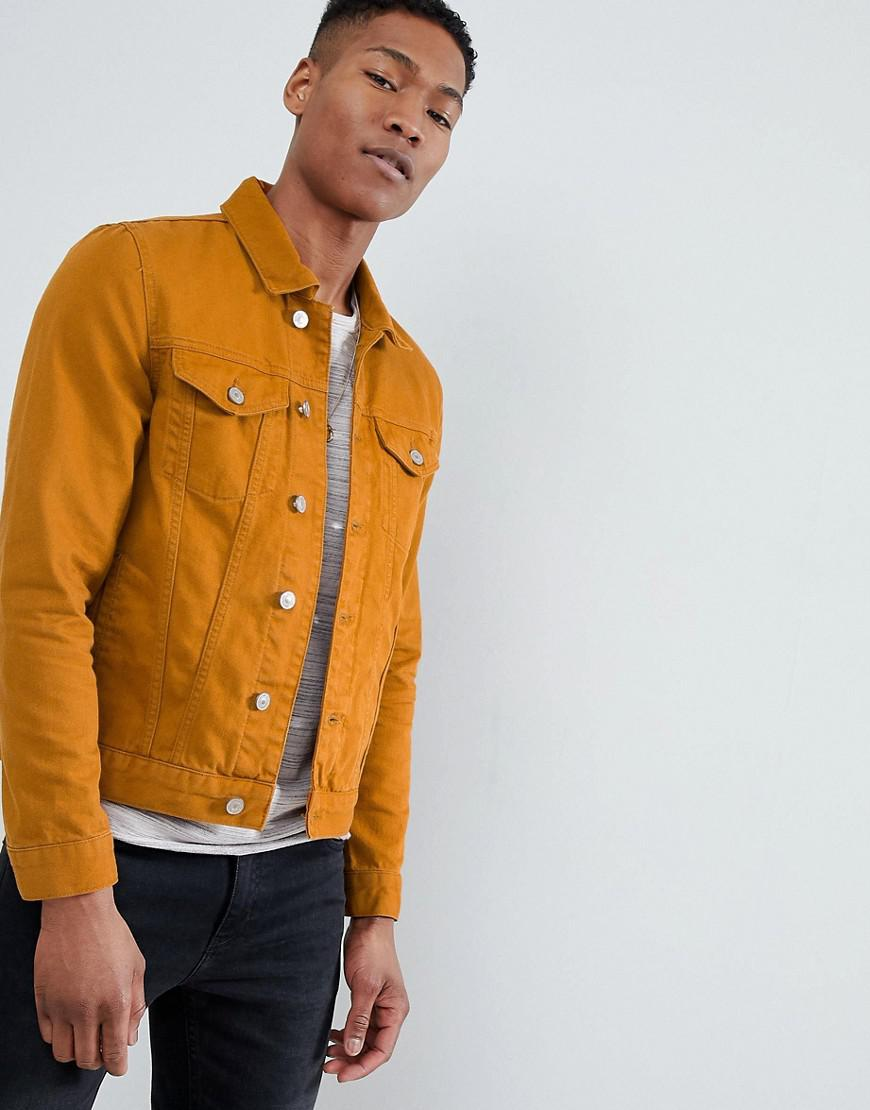 Lyst River Island Denim Jacket In Mustard In Yellow For Men