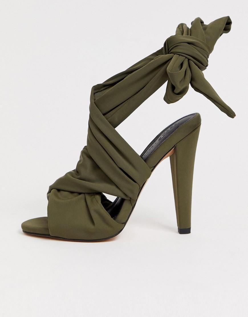09a8a3c626 Lyst - ASOS Husky Block Heeled Sandals in Gray