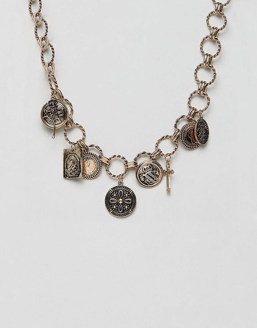 7a744f53557b Collar de tendencia con charms de inspiracin vintage y colgantes de ...