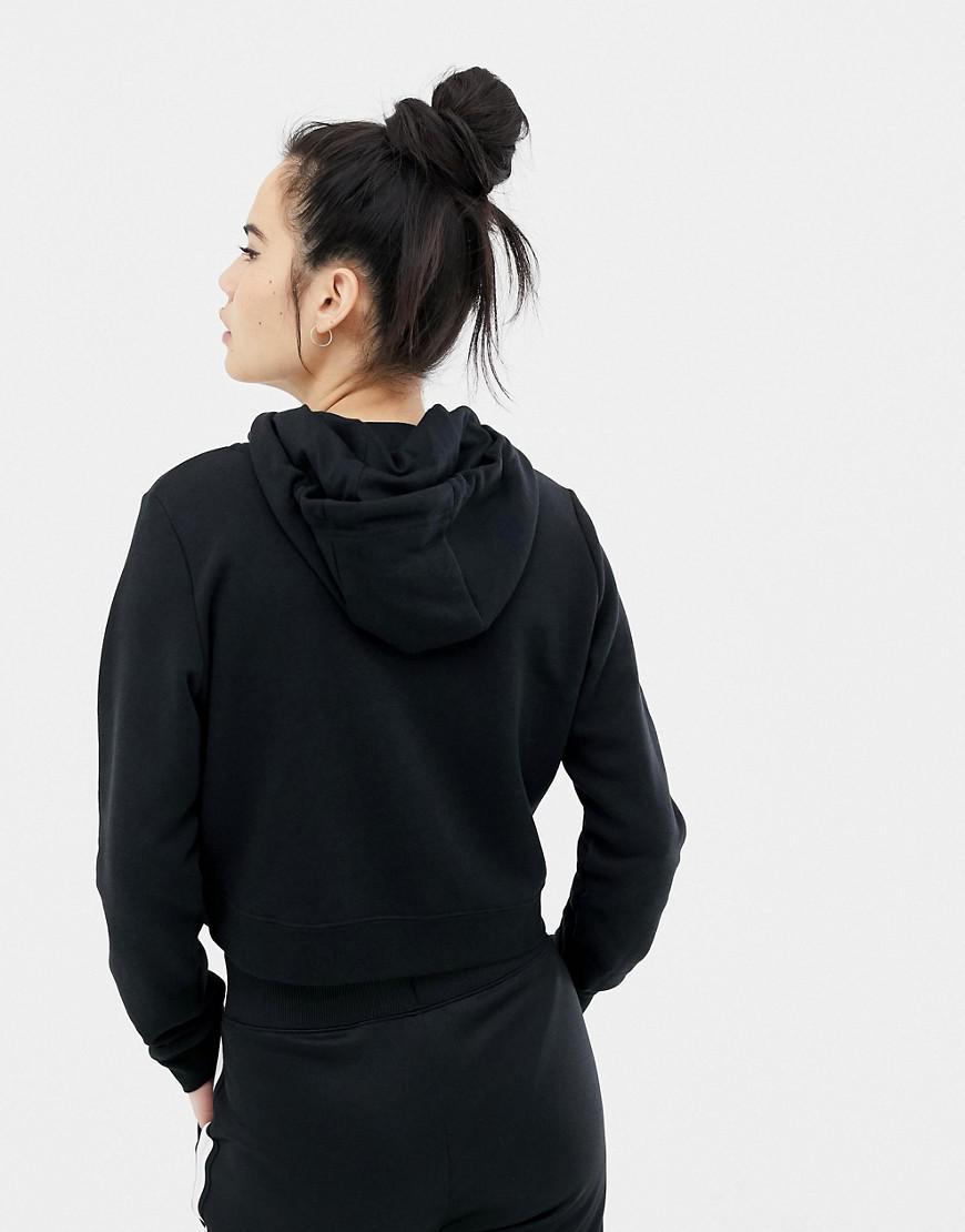 8833fdf2e16 Nike Black Cropped Hoodie in Black - Lyst