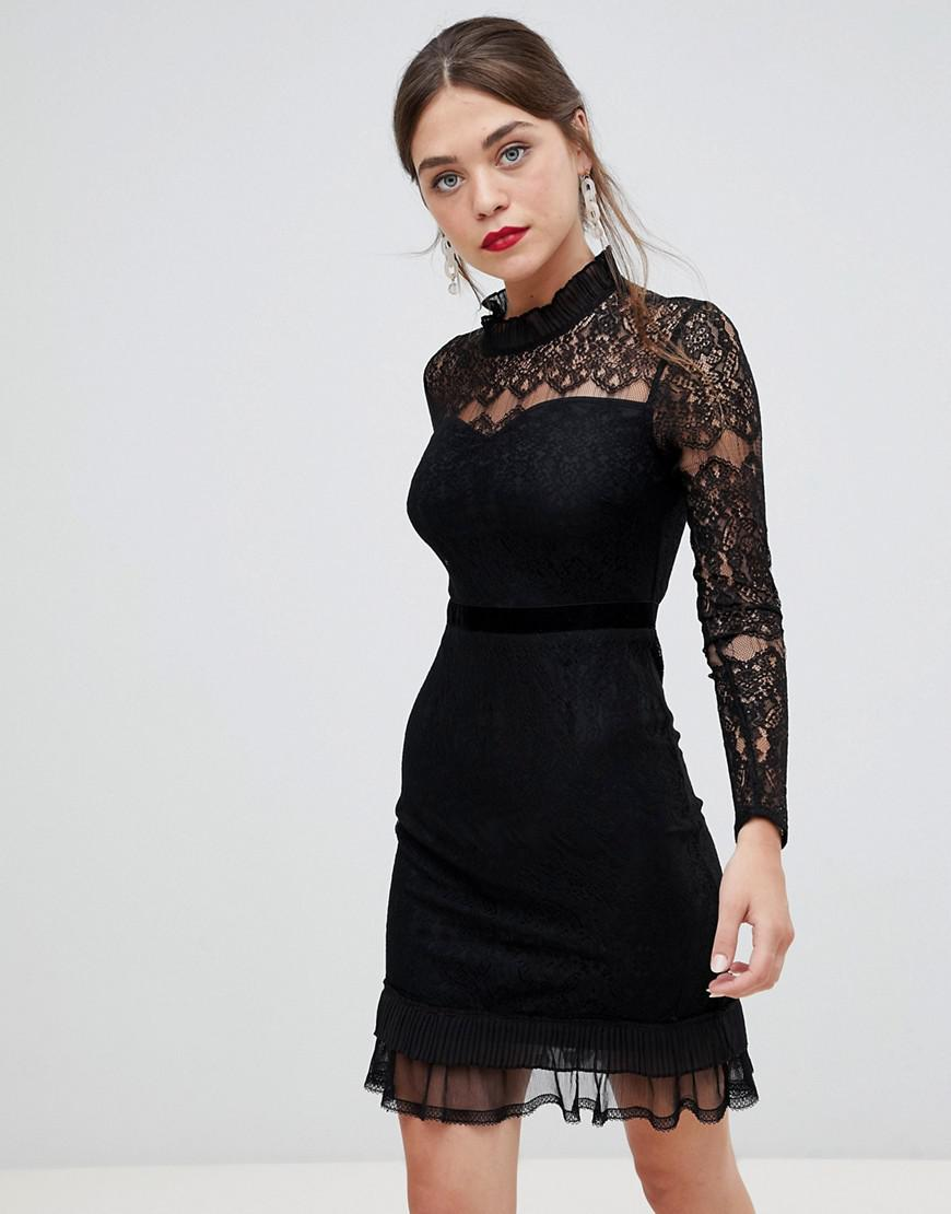 66ca0f18aee4 Frock and Frill Frock & Frill High Neck Long Sleeve Lace Dress With ...