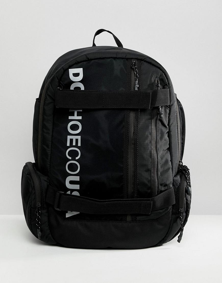 55a458df32 DC Shoes Skate Backpack In Black With Logo in Black for Men - Lyst