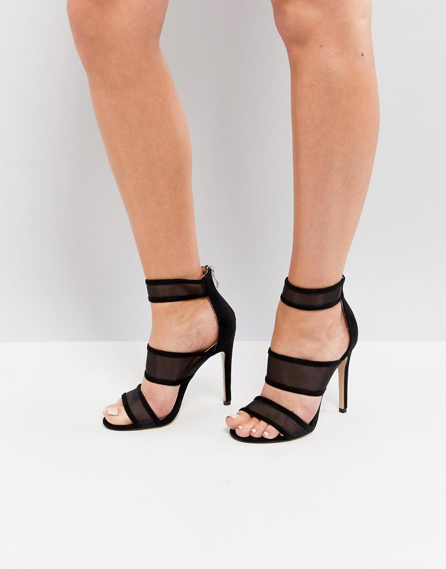 Public Desire Mesh Caged Heeled Sandals wu1qi