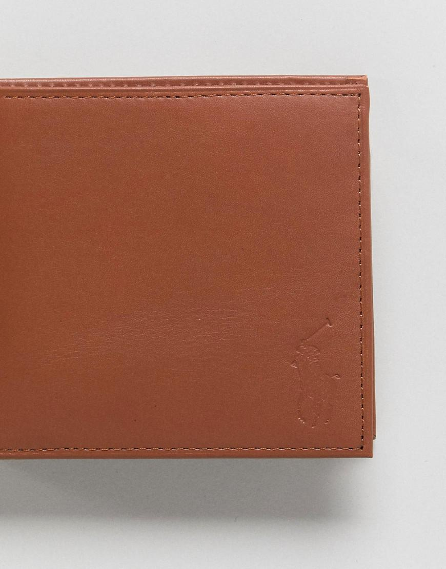 be9e52859623 Polo Ralph Lauren Leather Wallet Billfold Coin Pocket Embossed Pony ...