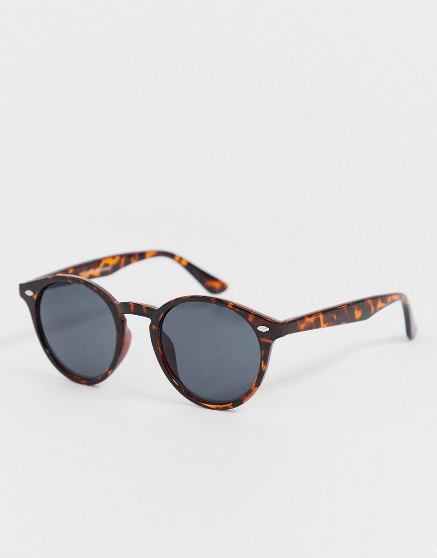 27d70e287e1 New Look Round Sunglasses In Brown Tortoise Shell in Brown for Men ...
