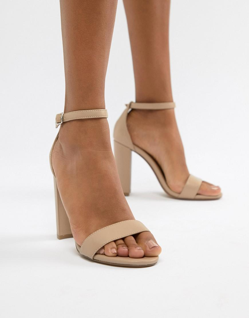 4a20a0731ac Lyst - Steve Madden Carson Leather Blush Pink Heeled Sandals in Pink