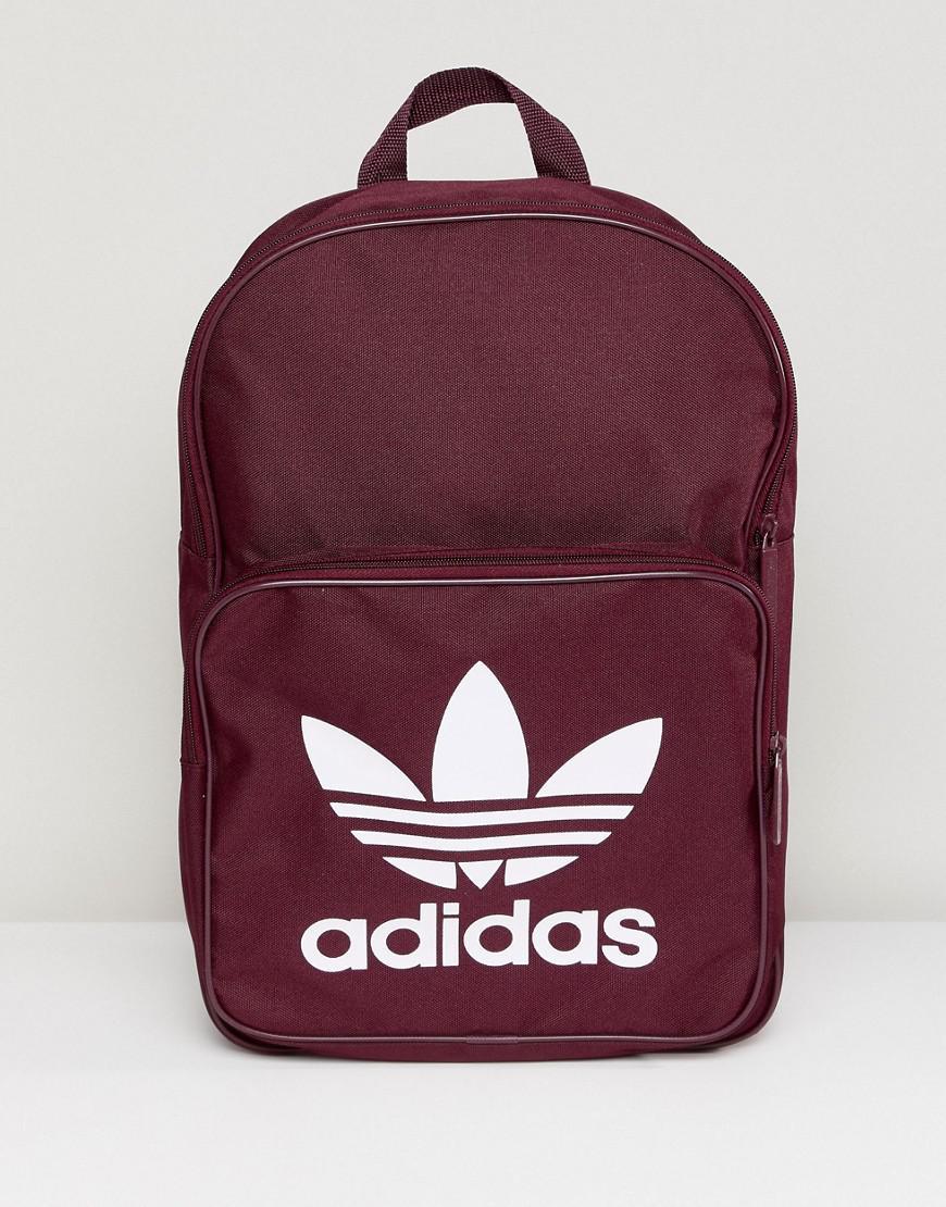5daae783f2 Lyst - Sac dos classique adidas Originals en coloris Rouge