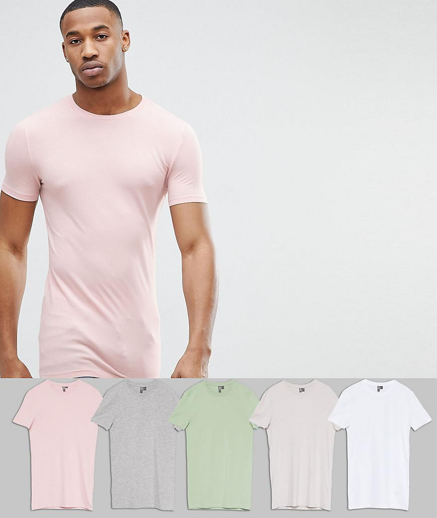 924aada0 Lyst - ASOS Longline Muscle Fit Crew Neck T-shirt With Stretch 5 ...