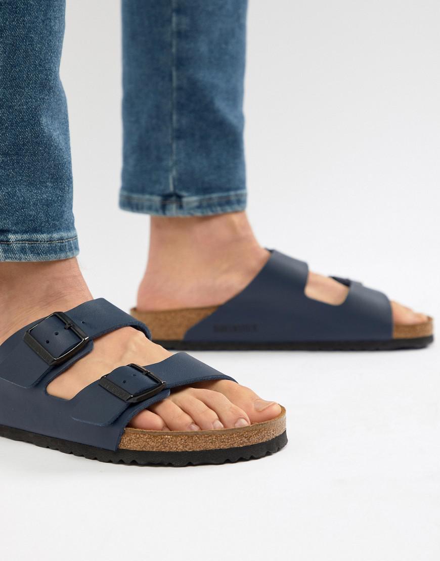 277643984221 Birkenstock Arizona Birko-flor Sandals In Blue in Blue for Men - Lyst