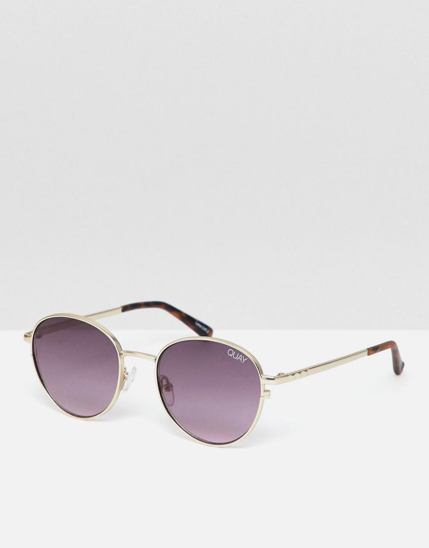 ea554dc70e Quay - Metallic Crazy Love Round Sunglasses for Men - Lyst. View fullscreen
