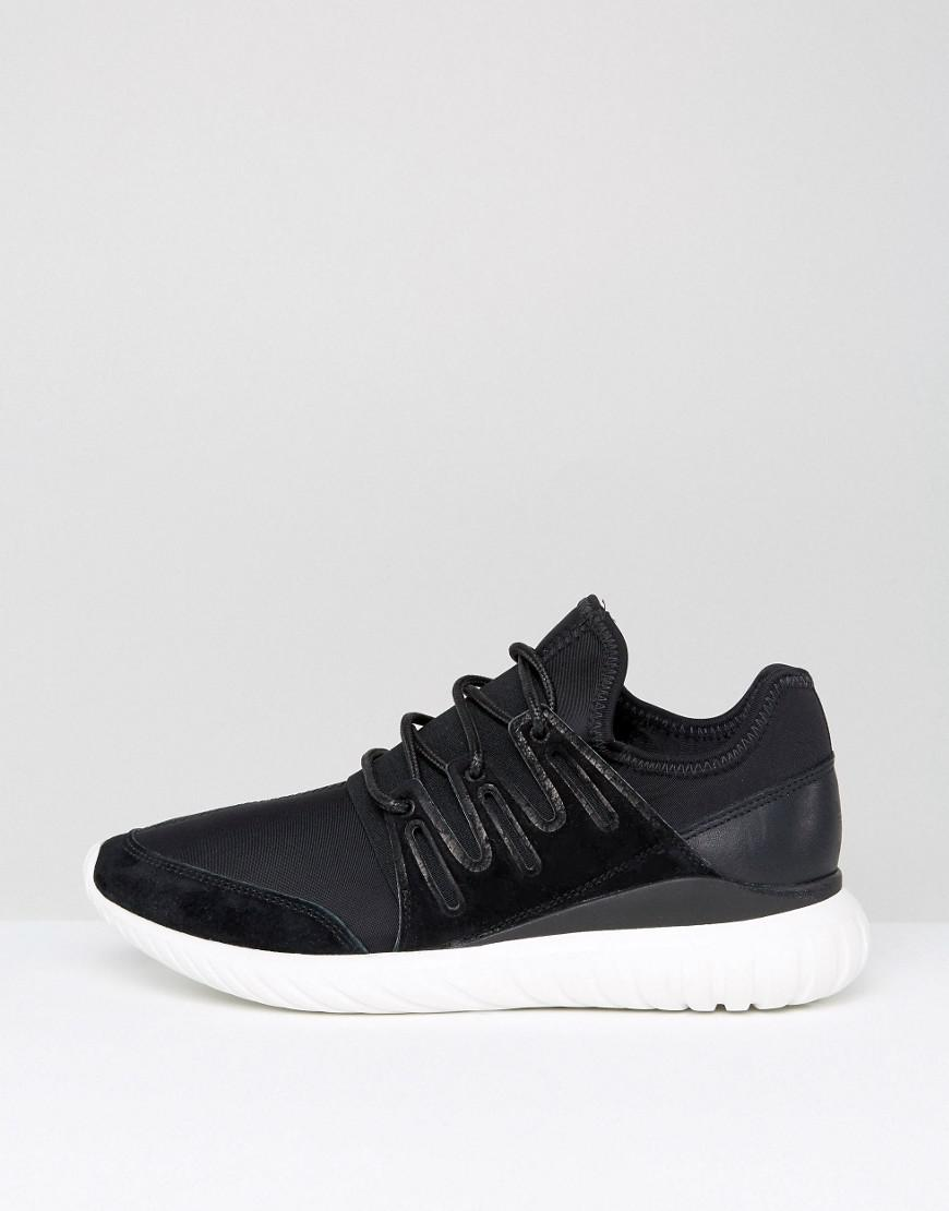 best service 42401 6c7a7 Lyst - Adidas Originals Tubular Radial Trainers in Black for Men - Save  63.013698630136986%