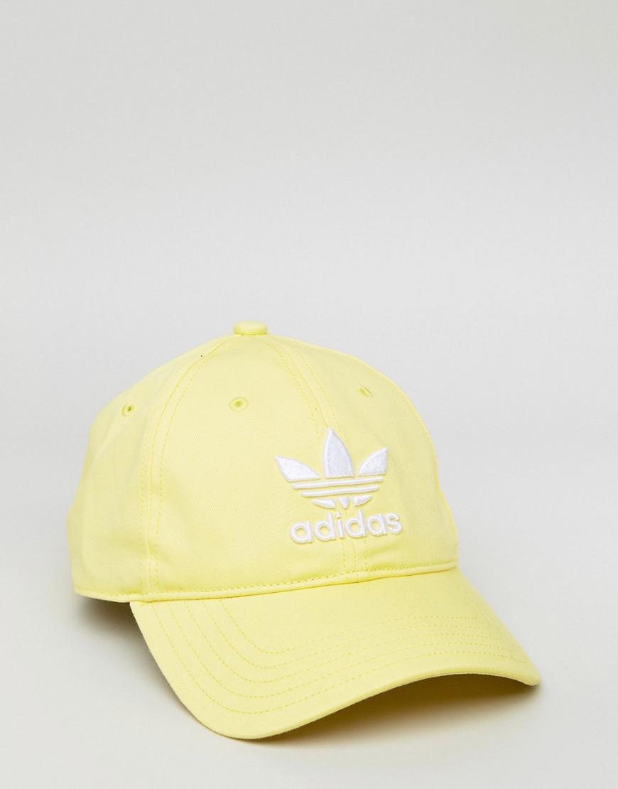 Lyst - adidas Originals Adicolor Trefoil Cap In Yellow Cd6974 in ... 7359a9fe9c5