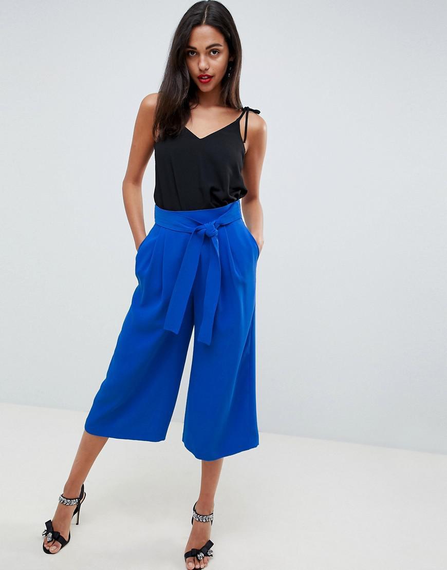7e68d974c52100 Jupe-culotte ceinture noue Coast en coloris Bleu - Lyst