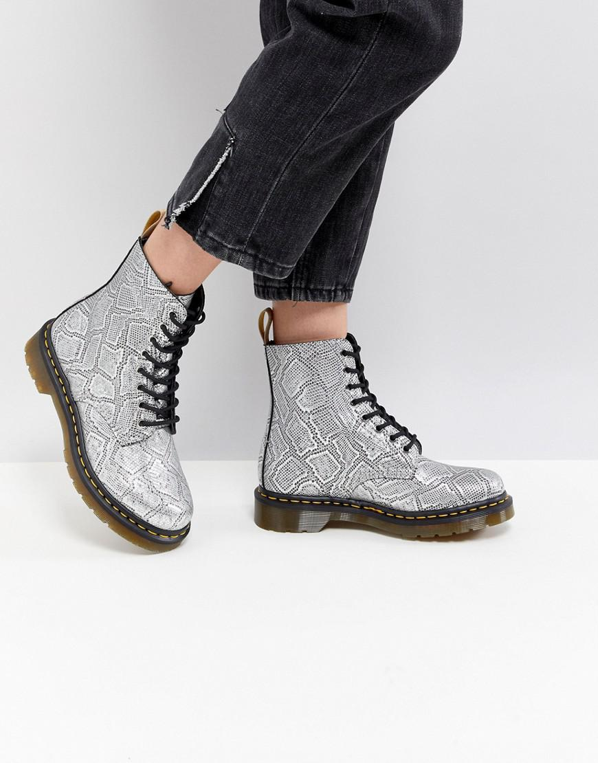 Dr. Martens Vegan Snake Lace up Boots