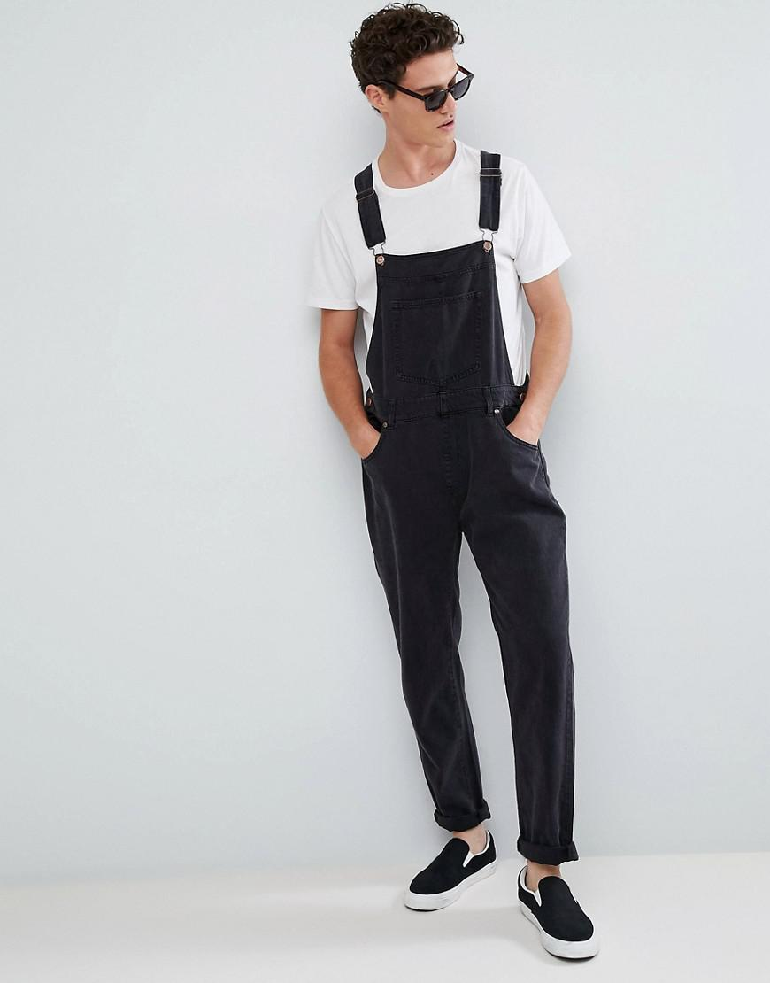reasonably priced how to choose online retailer Dr. Denim Black Loose Dungarees for men