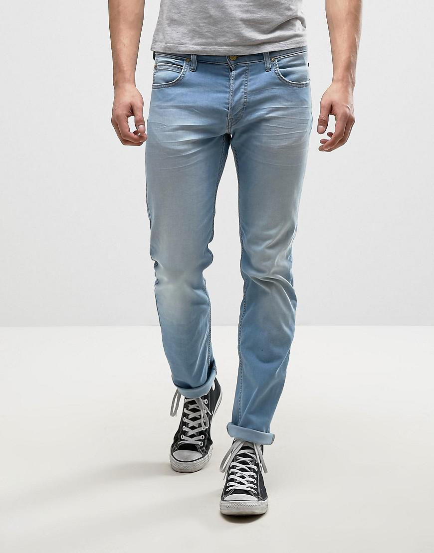 X Lee Zip Powell Slim Jeans Mid Wash - Blue House Of Holland LChCyJSBYS