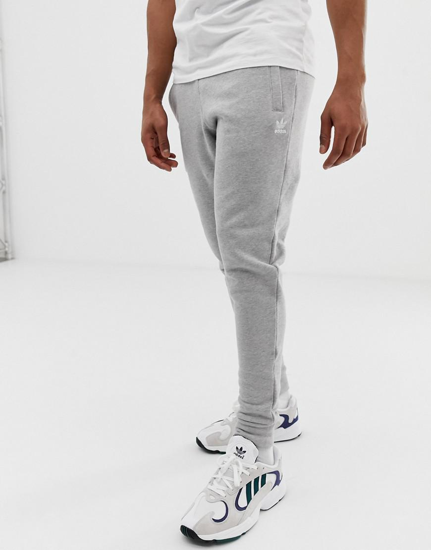 c6c137003 Adidas Originals - Gray Joggers With Logo Embroidery Grey for Men - Lyst.  View fullscreen
