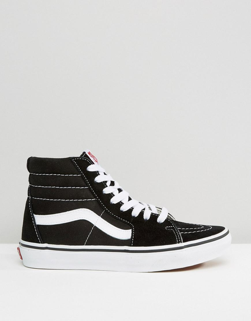 0aa5d32b7e7b Vans Classic Sk8 Hi Trainers In Black And White in Black - Save 70% - Lyst