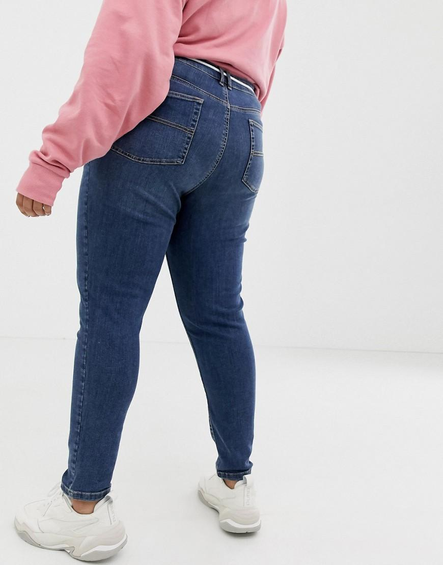 dff3b88f676 Collusion Plus X001 Skinny Jeans In Mid Wash in Blue - Lyst