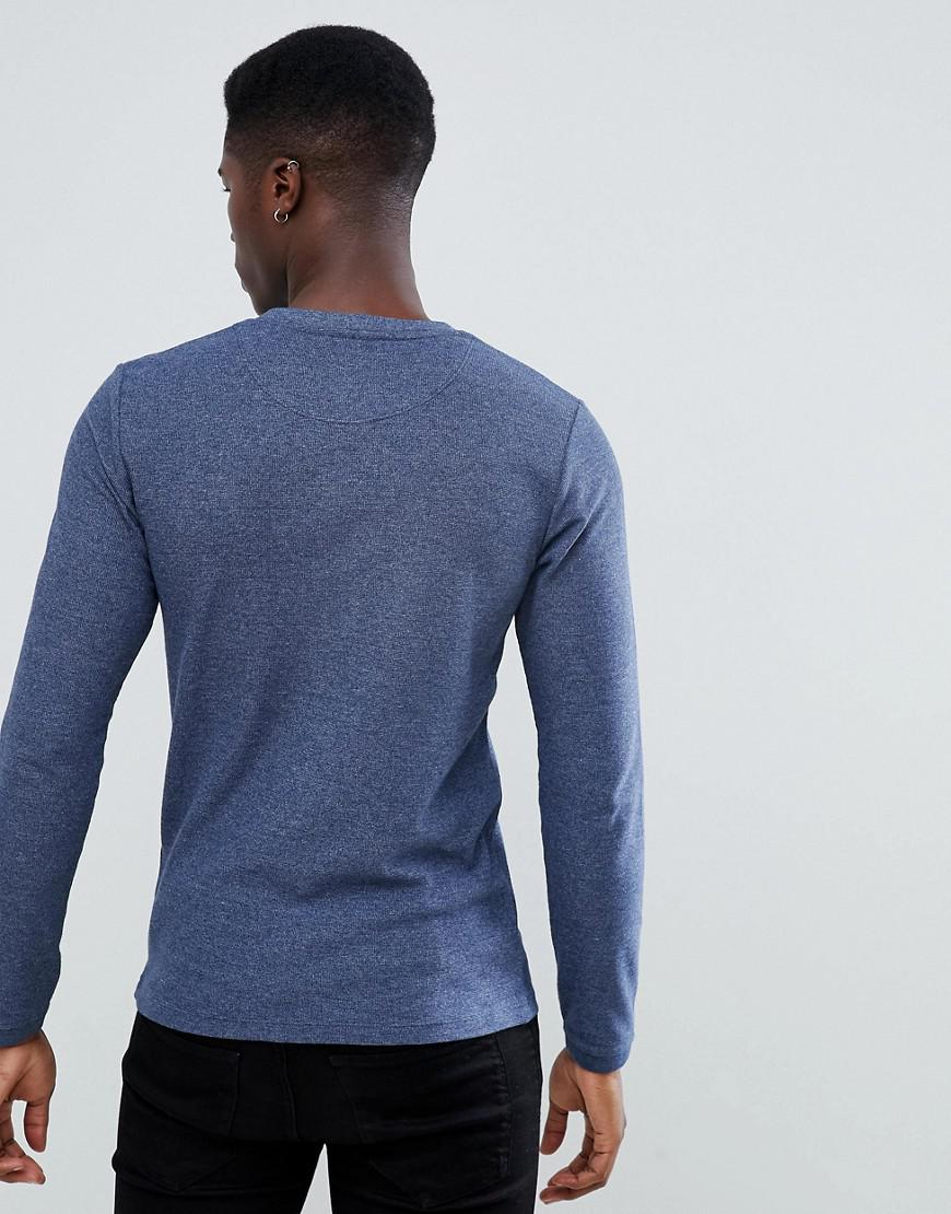 Lyst - Esprit Long Sleeve Top In Navy in Blue for Men 72d6ff409