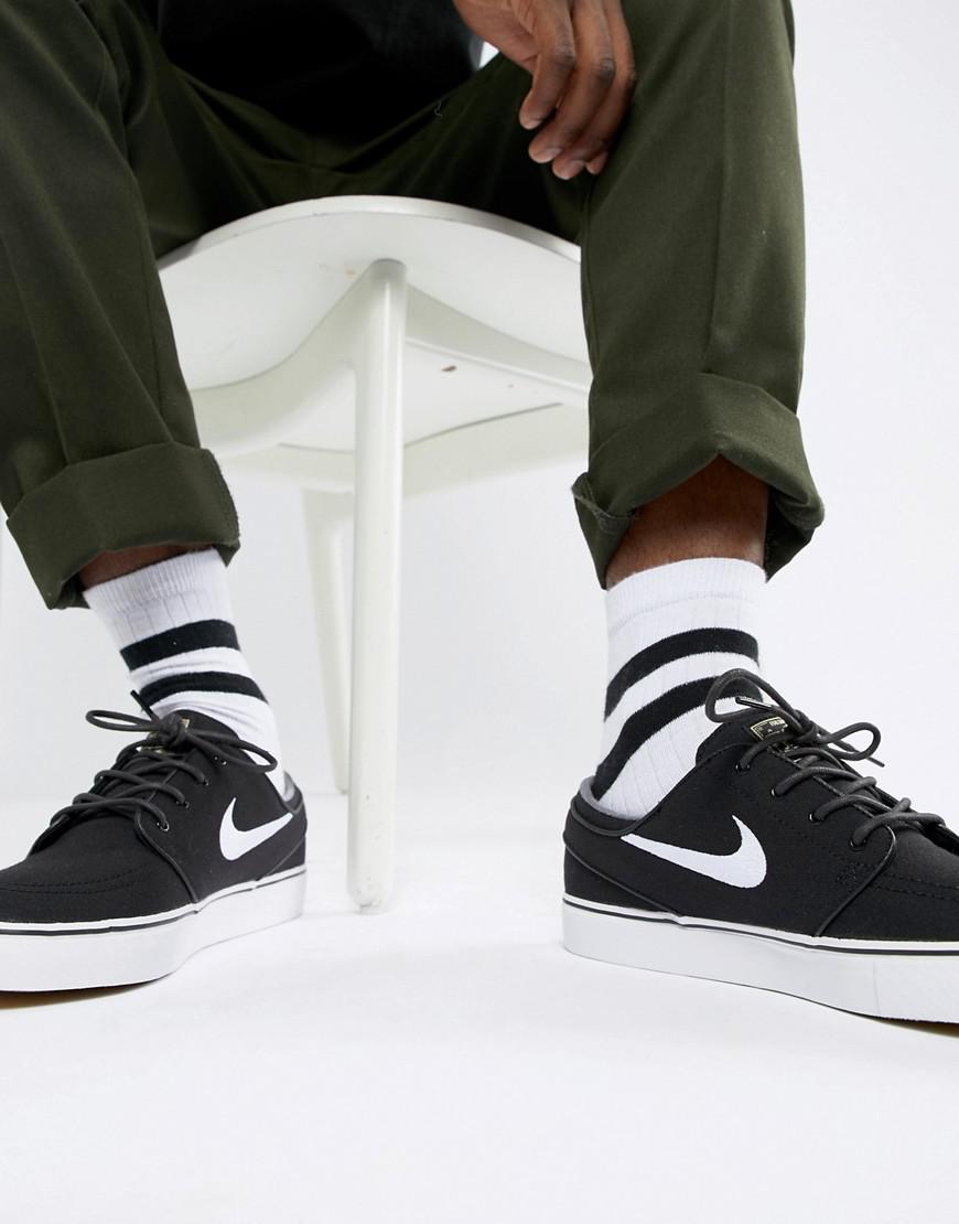 01e4dfe0a143 Nike Zoom Stefan Janoski Skateboarding Trainers In Black 615957-028 ...