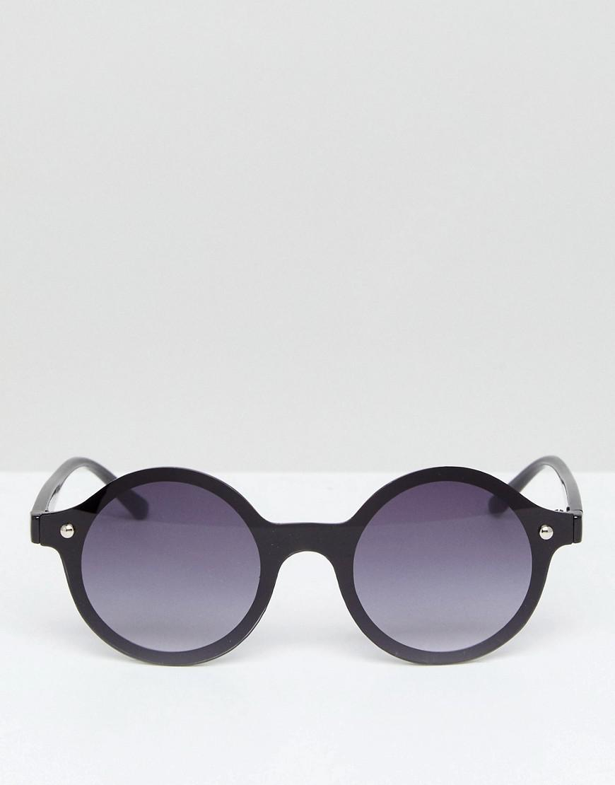 3ea9195e95 A.J. Morgan Rimless Round Sunglasses In Black in Brown for Men - Lyst