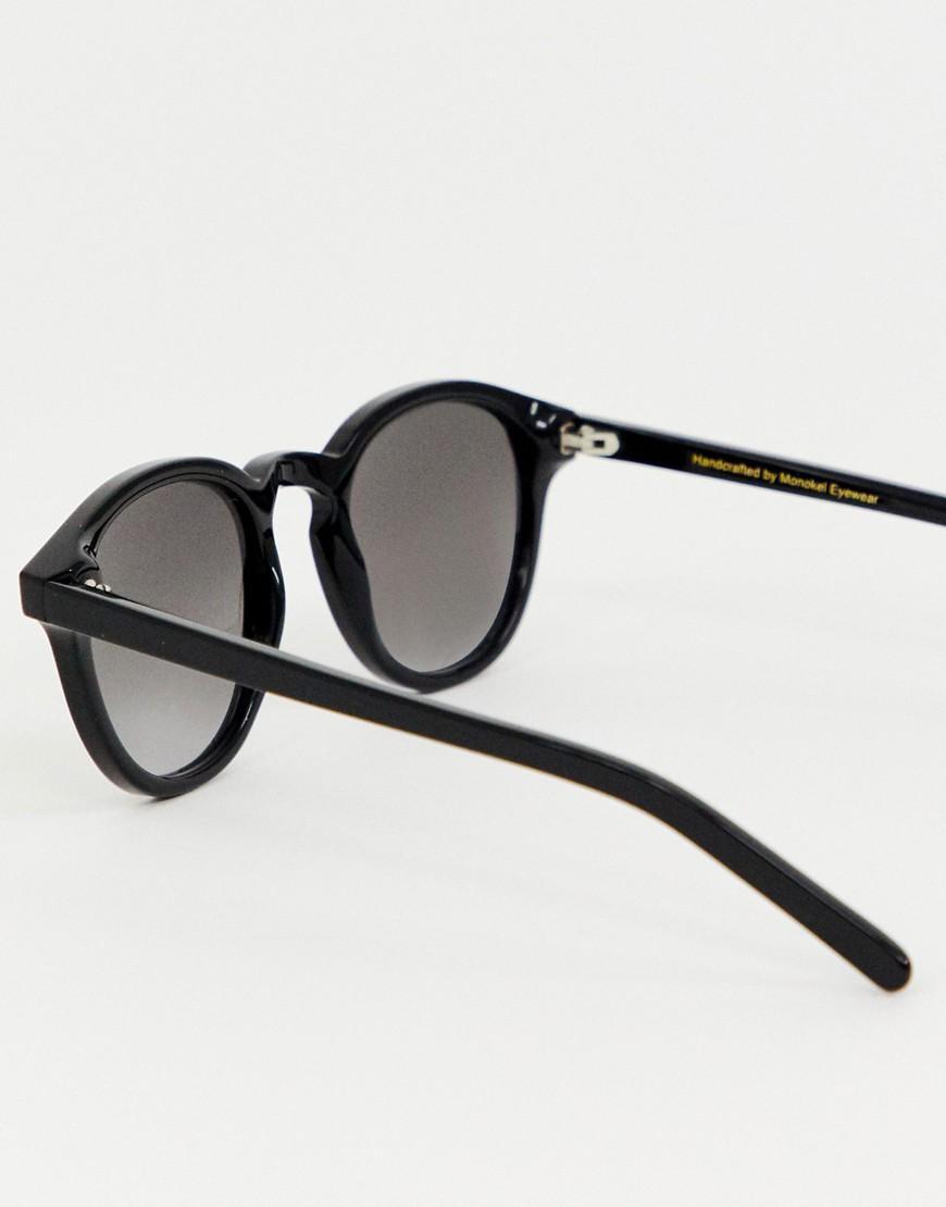 f236f582bd3f2 Monokel Eyewear Nelson Round Sunglasses In Black in Black for Men - Lyst