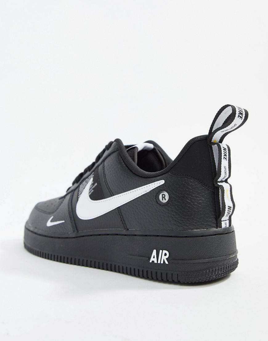 ... wholesale price 420ba 9d9b3 Nike Air Force 1 07 Utility Trainers In  Black Aj7747-001 ... e5f59f1bd