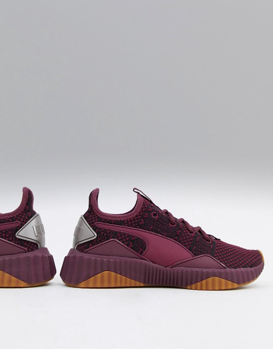 128019ffbe44ea Lyst - PUMA Training Defy Opulence Sneakers In Burgundy in Red
