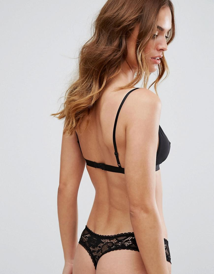 adf69702622d Lyst - ASOS Asos 3 Pack Deep Side Lace Thong in Black