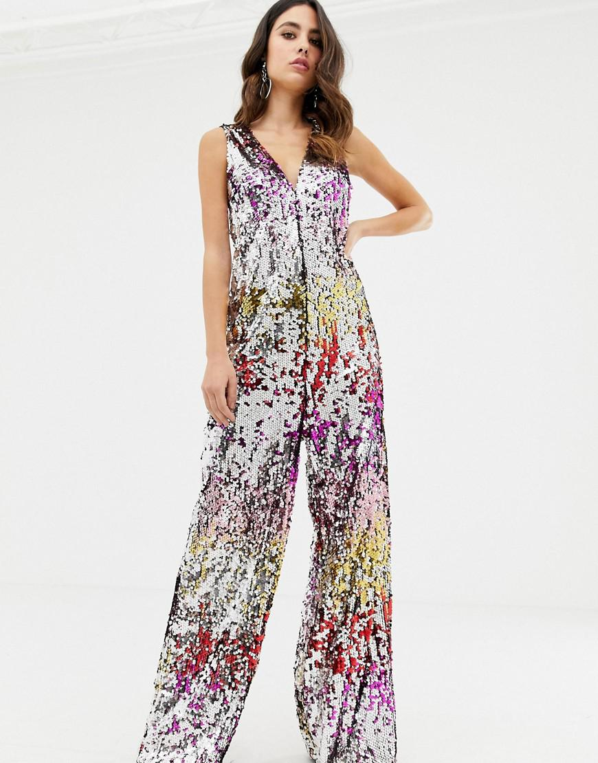 837c9eee3b62 TFNC London. Women s Rainbow Sequin Relaxed Jumpsuit