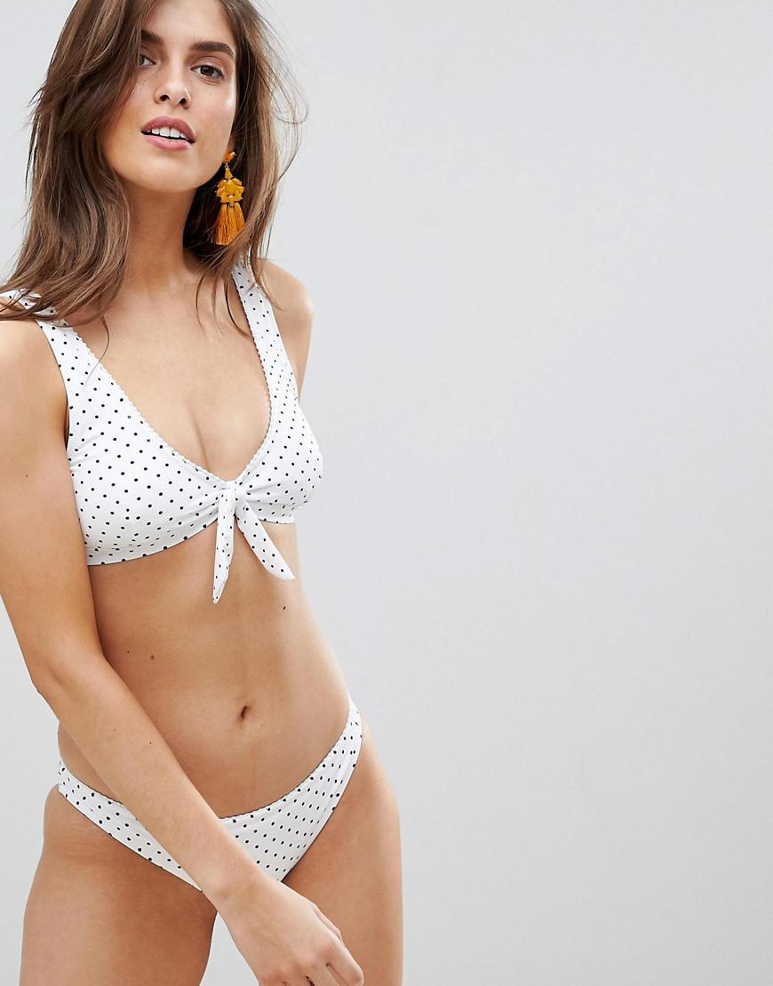 e27a14d43c8 Rhythm - White Polka Dot Scoop Bikini Top - Lyst. View fullscreen
