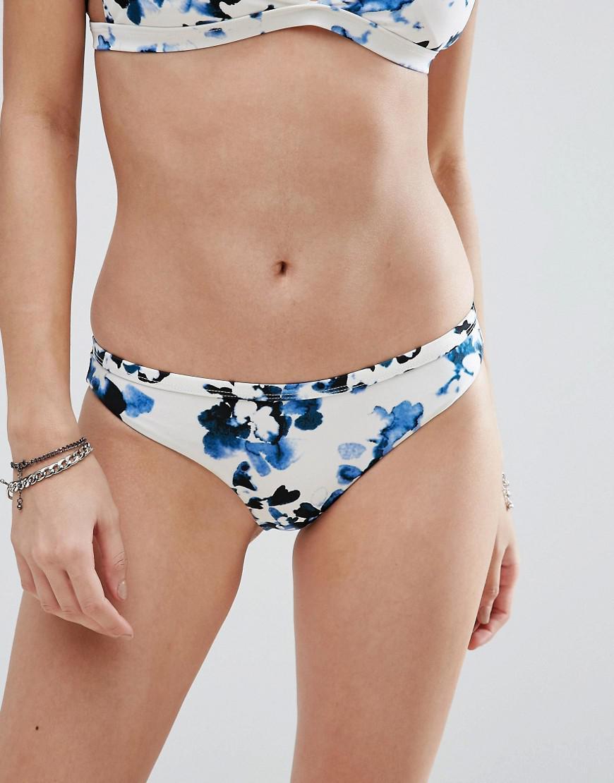 3e600e2785cbd RVCA Floral Bikini Bottom in Blue - Lyst