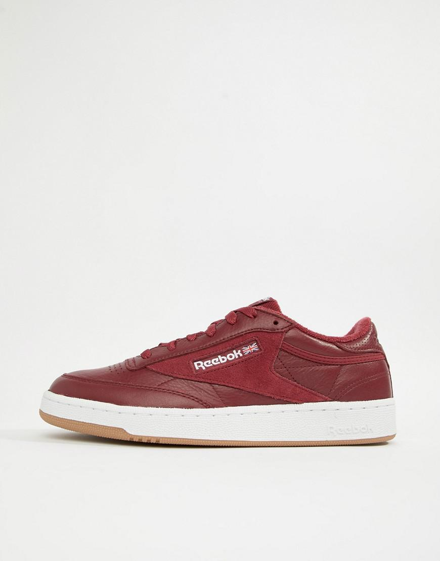 51a4f3f1070b Reebok Club C 85 Essential Sneakers In Red Cm8792 in Red for Men - Lyst