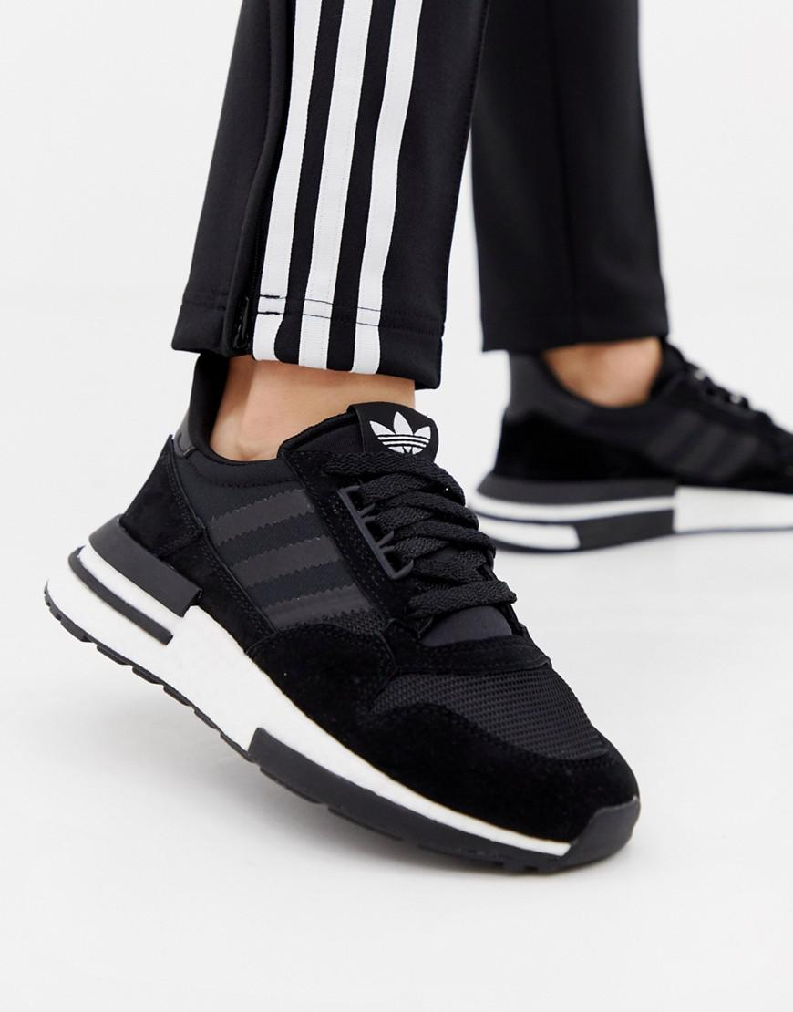 796b3efbdc27e adidas Originals Zx 500 Rm Trainers In Black in Black - Lyst