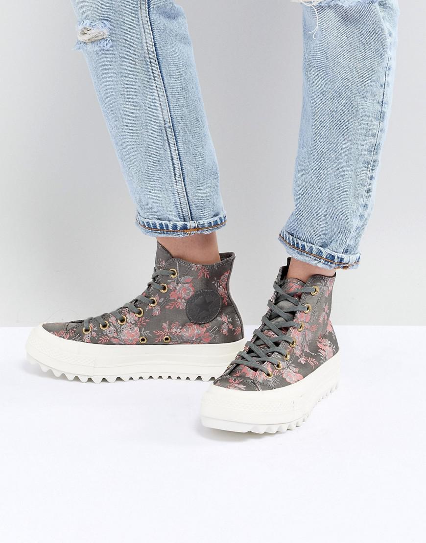 de856809e23 Lyst - Converse Chuck Taylor All Star Hi Lift Ripple Sneakers In Floral