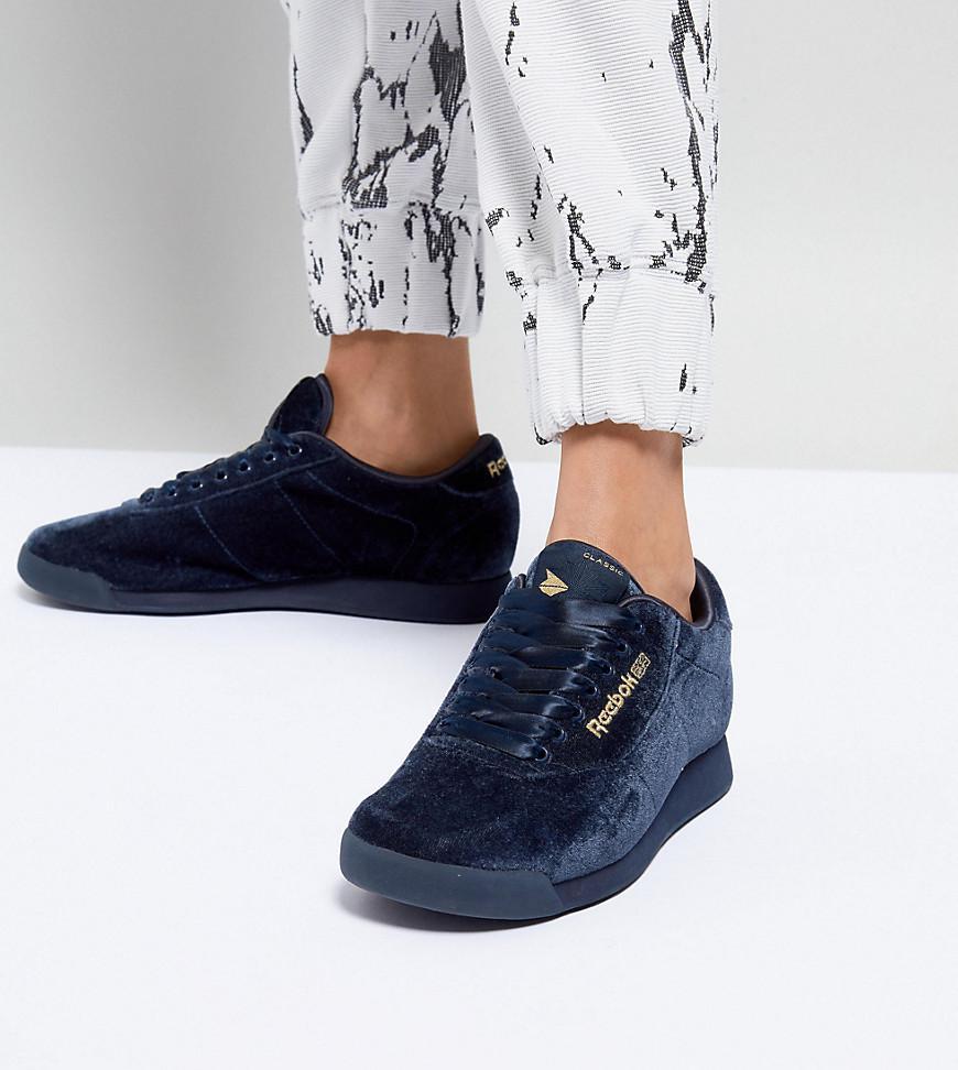 fd1311aa621f Lyst - ASOS White X Reebok Princess Sneakers In Velvet in Blue