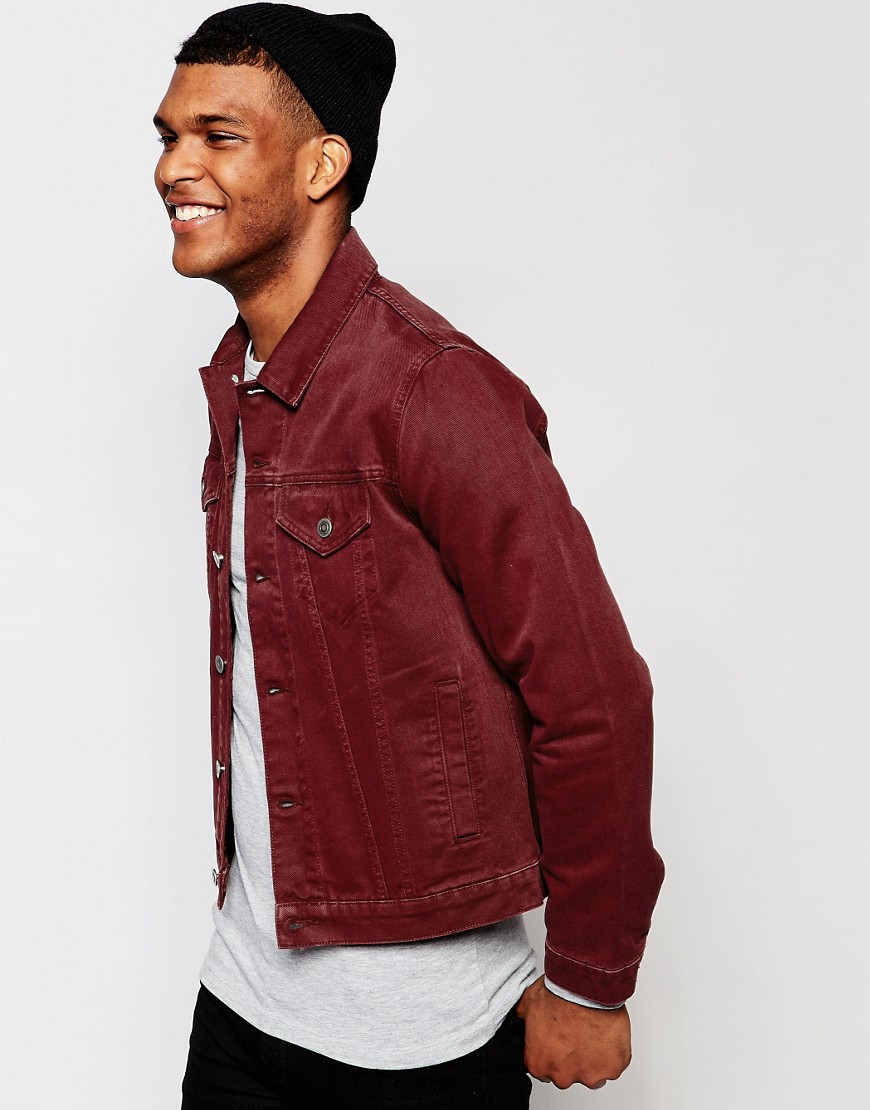 Men Jean Jacket With Hoodie