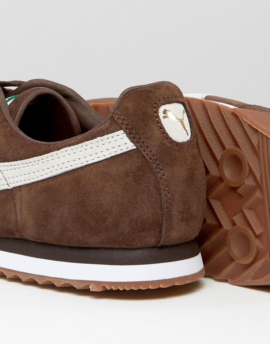 6dcabf049ceb Lyst - PUMA Roma Sneakers In Brown 36354407 in Brown for Men