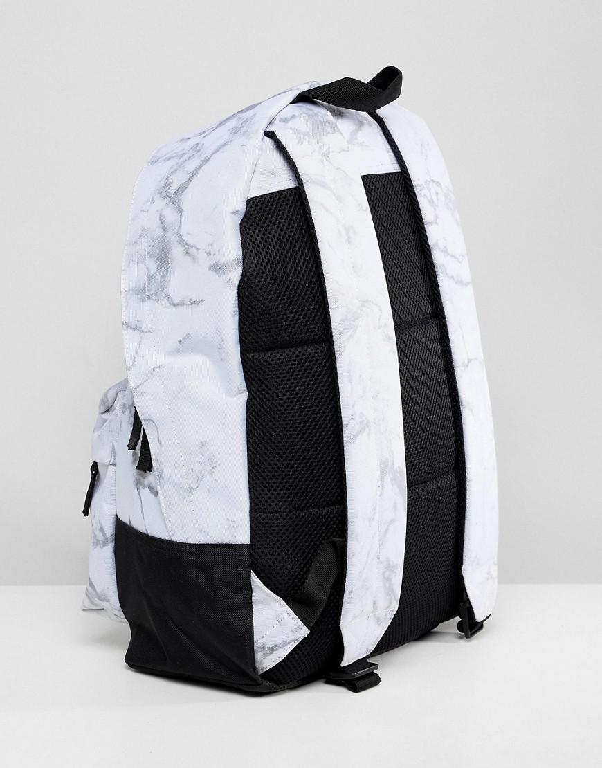 71936278bab ... best website Adidas Originals Marble Print Backpack In White Dh2570 in  White for Men - Lyst ...