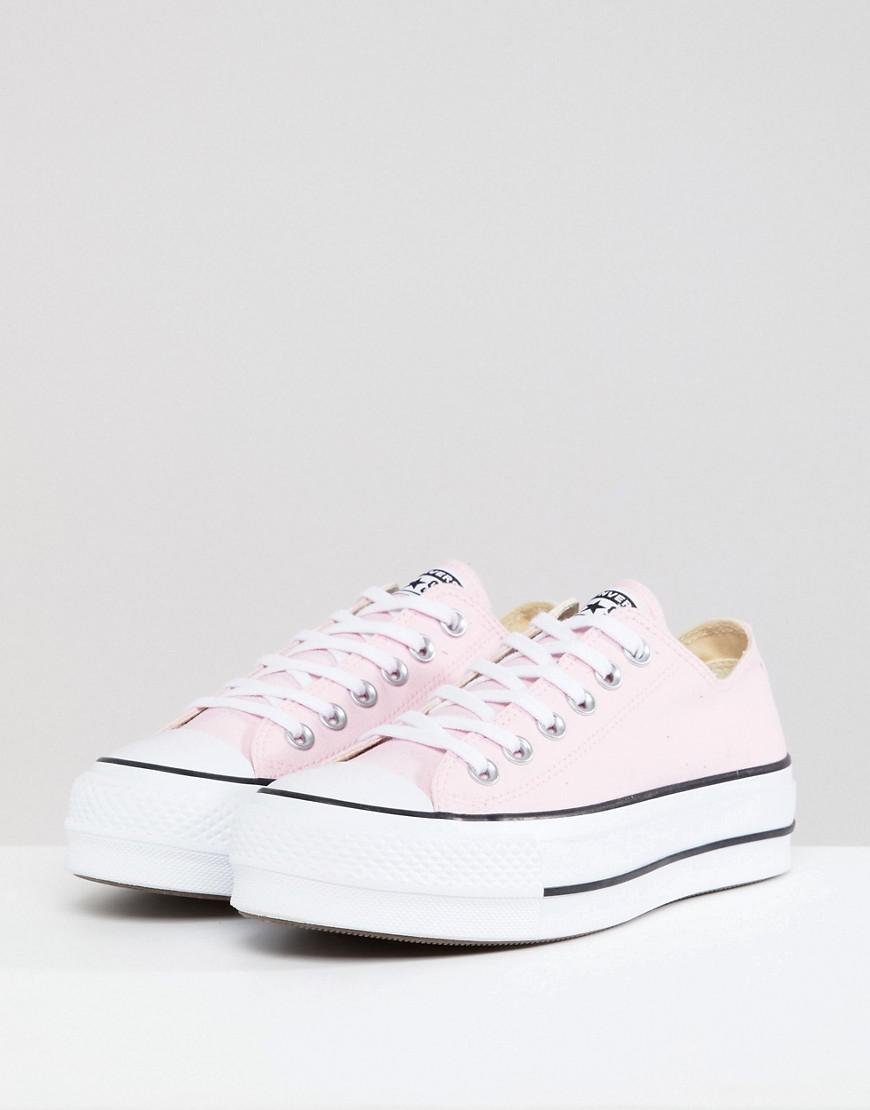c06aa354fa7d Lyst - Converse Chuck Taylor All Star Platform Sneakers In Pink in Pink