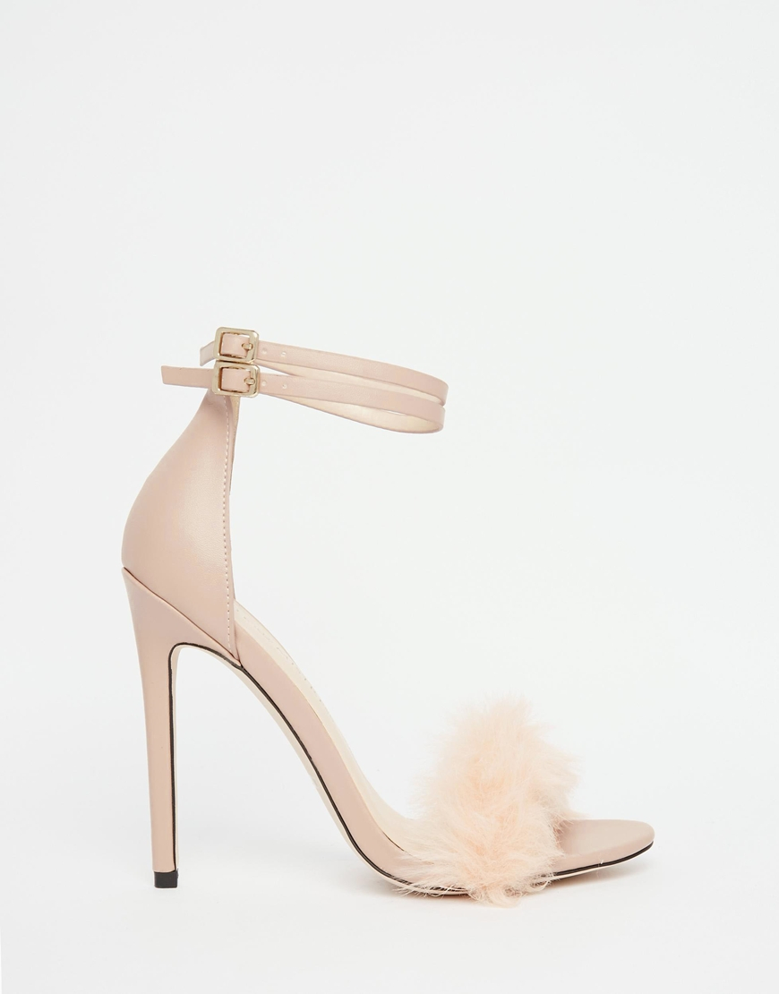 d112566e72 Little Mistress Monroe Faux Fur Ankle Strap Heeled Sandals in ...