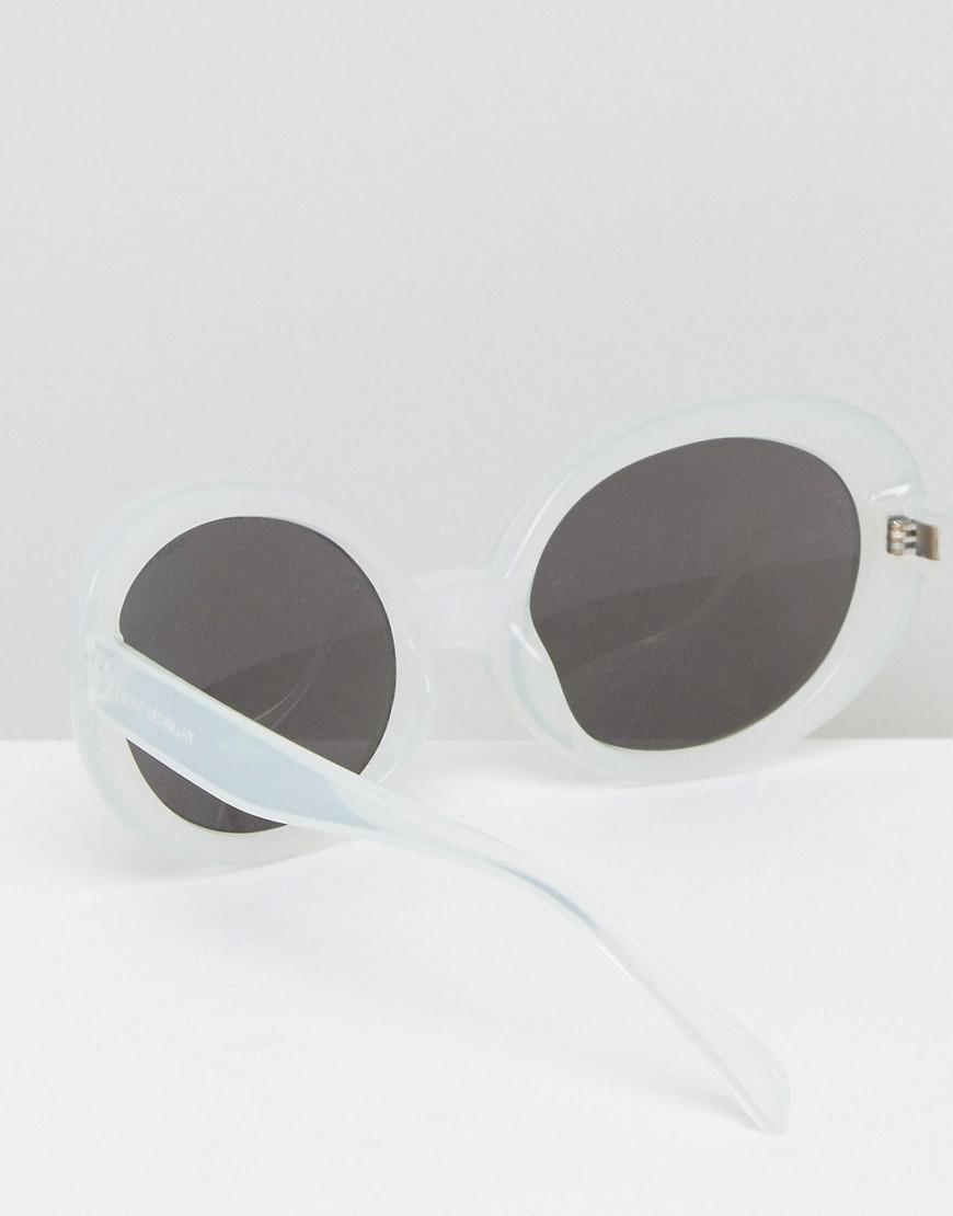 dbb007f32e Cheap Monday Kurt Cat Eye Sunglasses In White in White - Lyst