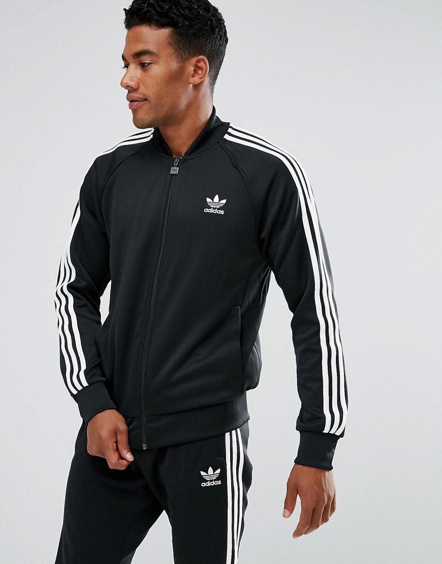 Lyst adidas Originals Track chaqueta en negro bk5921 en negro para hombres