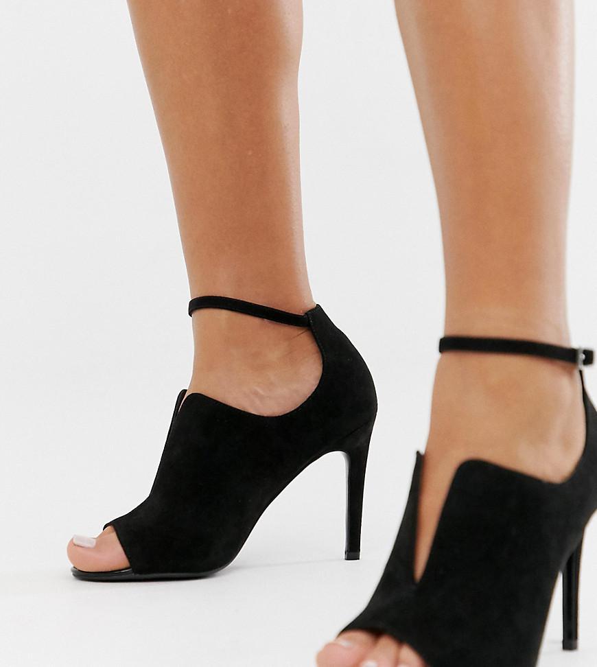 fe1591a48280 Asos Wide Fit Worth High Heels in Black - Lyst
