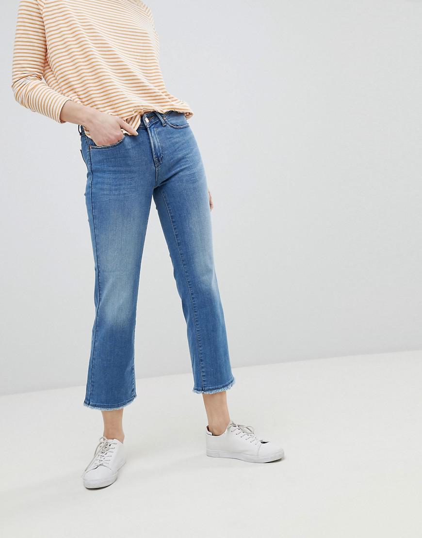 4b07c038367 Only Straight Leg Jean With Raw Hem in Blue - Lyst