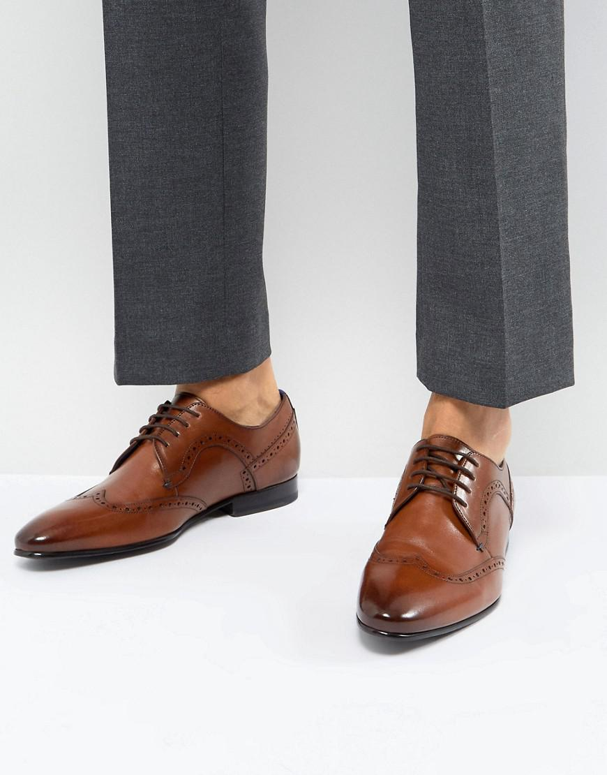 Ollivur Leather Brogue Shoes In Tan - Tan Ted Baker OAJv9